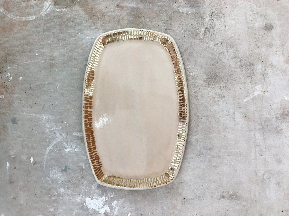 Blush + Gold Dash Tray, Object Enthusiast