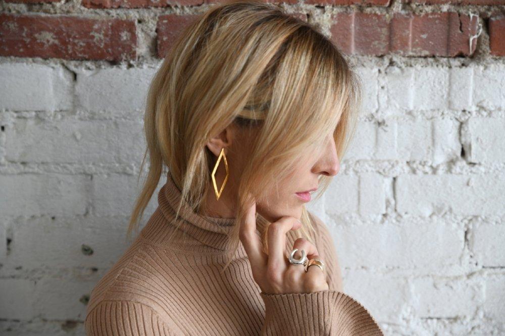 Diamond Back Earrings, $229