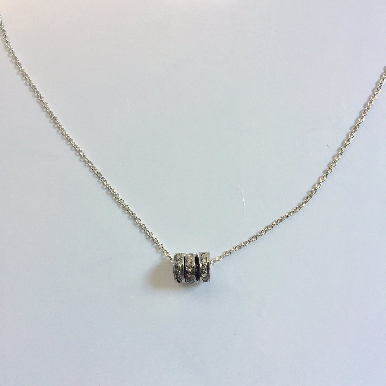 OXIDIZED STERLING BLACK DIAMOND 3 RINGS — LOCZIworks