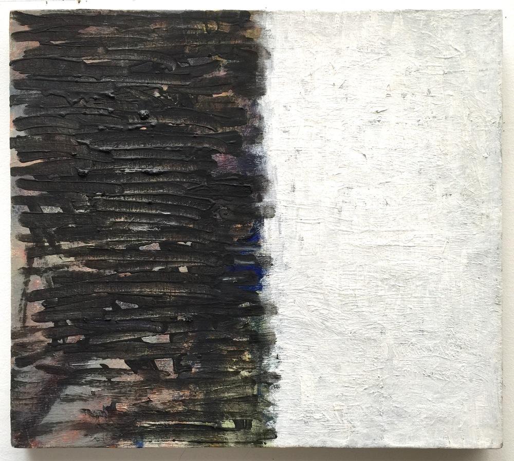 """Chute , 2002, oil on linen, 16"""" x 18"""""""