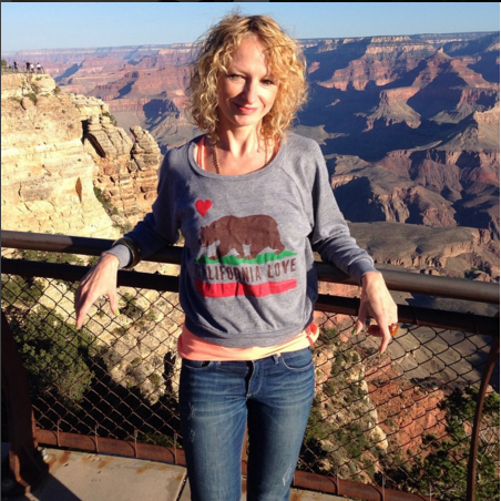 Me, taking a break from running, at the Grand Canyon