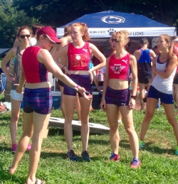 PRTC women, chatting and cooling off after our races.
