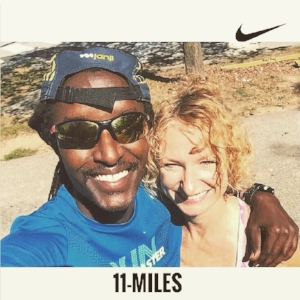 Finally got to catch up with Freddy, my favorite Kenyan 🇰🇪 🇺🇸   and long-time running pal, during an easy mid-week run. Freddy is of the high-mileage, low-intensity ilk, and his approach has me rethinking my approach for the next training cycle. I ran 4 miles, he ran 11, BTW. (Excuse my squint. Sun was very bright.)