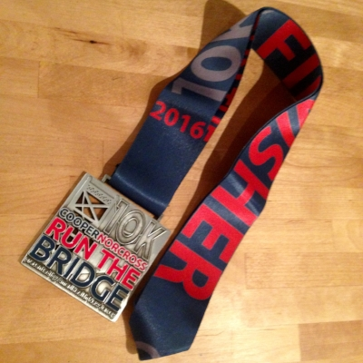 Cool finisher's medal