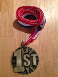 My 1st Place Age Group medal