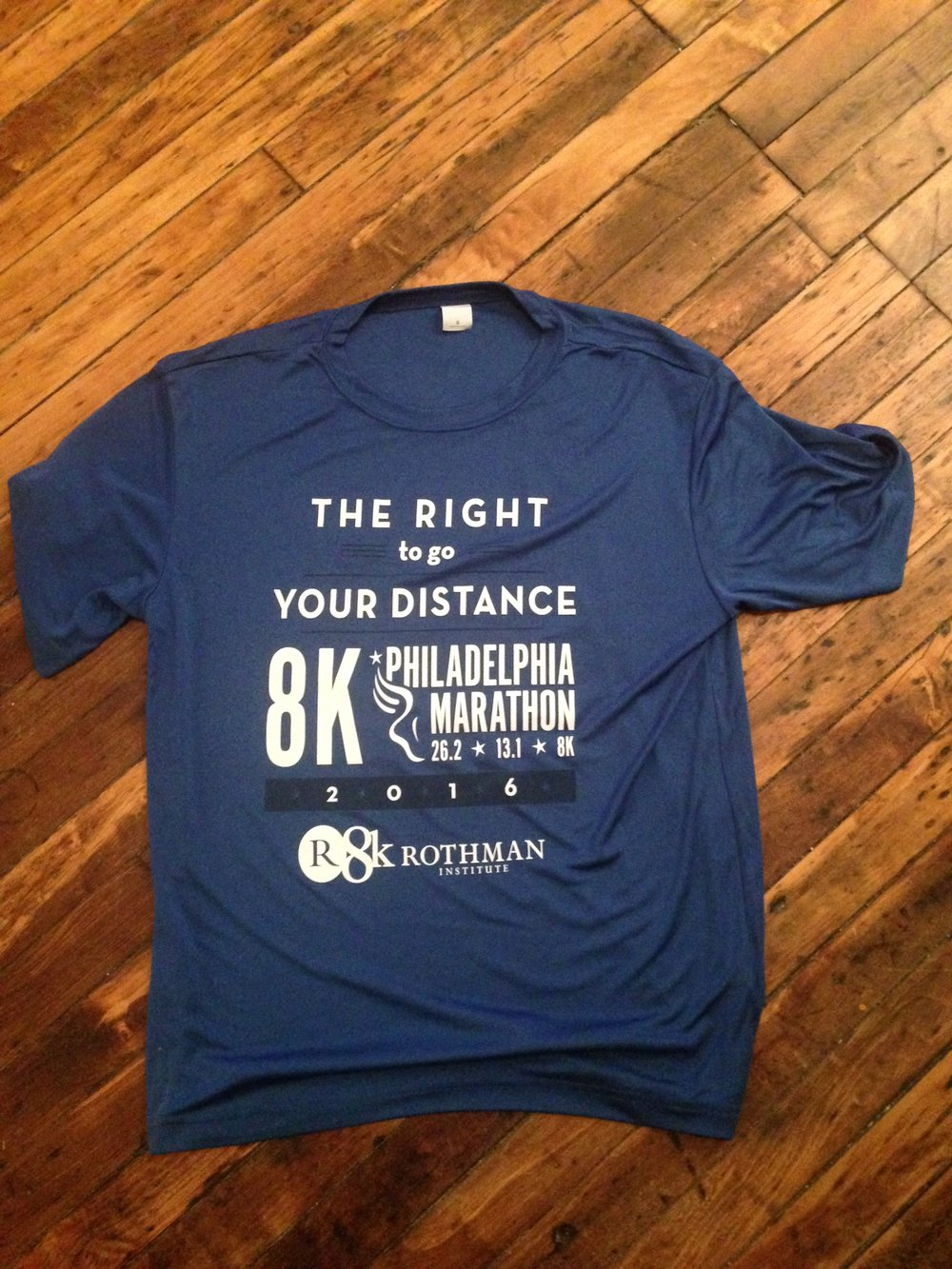 Rothman 8K shirt front – a nice tech shirt – too bad it's too big on me.