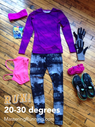 What to wear for winter running / 20-30 degrees