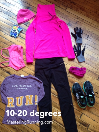 What to wear for winter running/ 10-20 degrees