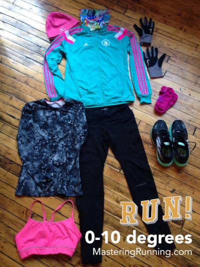 What to wear for winter running/ 0-10 degrees