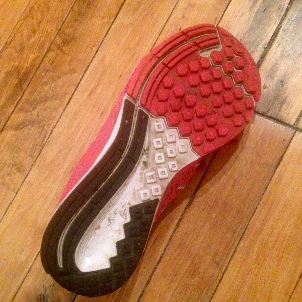Tread pattern: Nike Air Zoom Elite 8