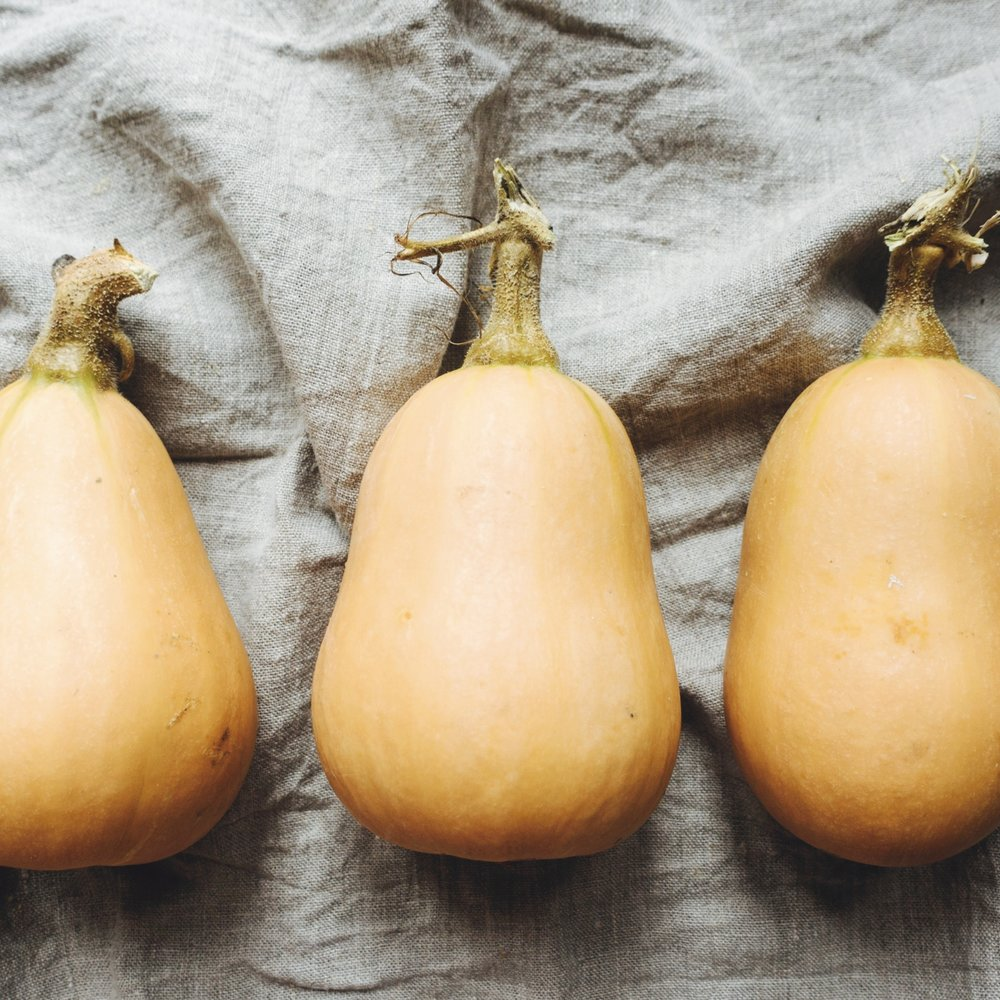 Butternut squash, my weapon of choice– naturally sweet and so much personality when roasted.