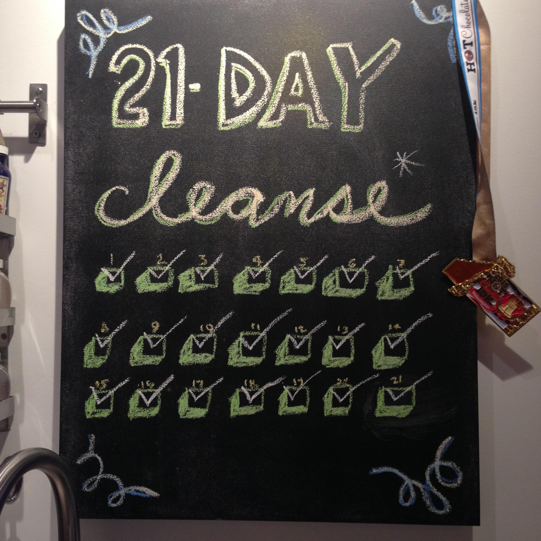 I like to track my progress on my chalkboard