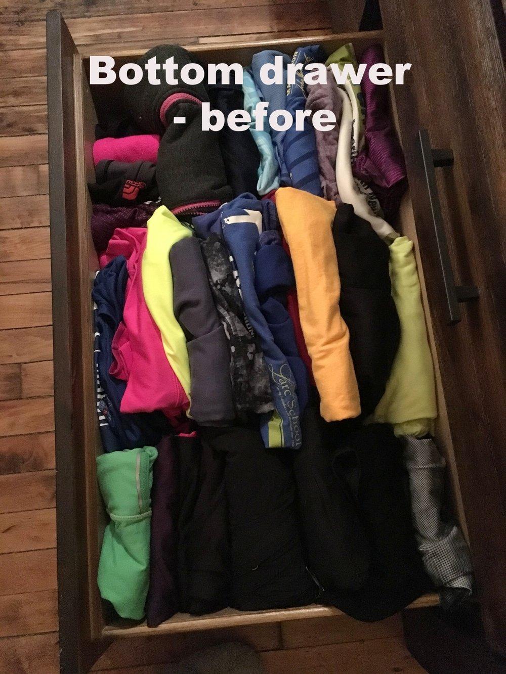 bottom drawer - before