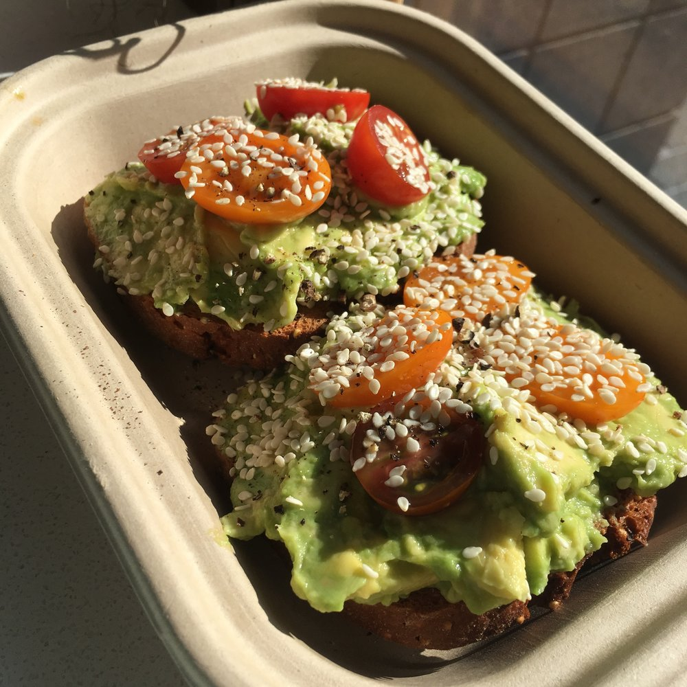 Avocado toast on gluten-free bread at Mother Juice. I think it included an entire avocado!