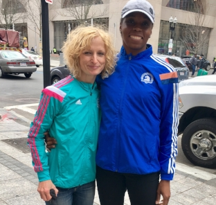 I MISSED MY friend Shanae while spectating but bumped into her on the street not far from where I ran into her last year after we had both run the marathon. She also said she suffered from the heat.