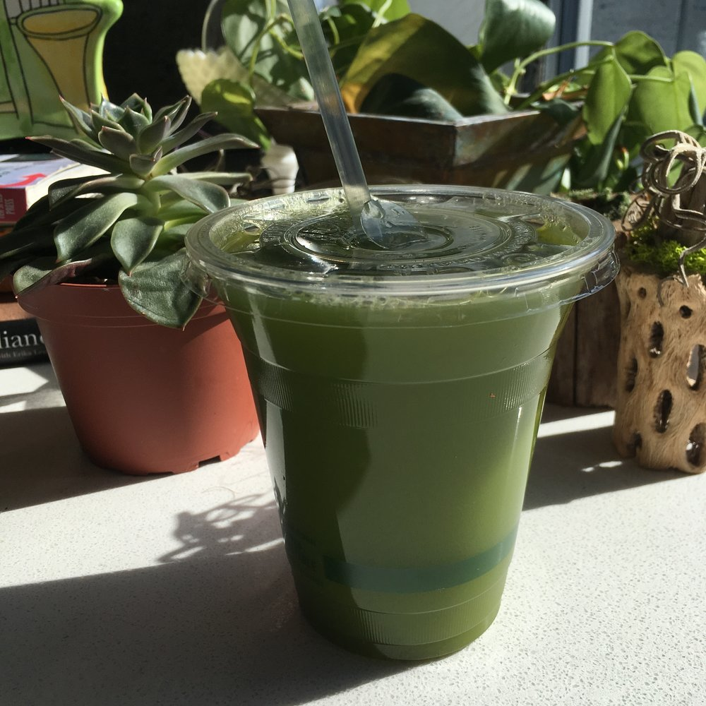 Green juice at Mother Juice in Boston