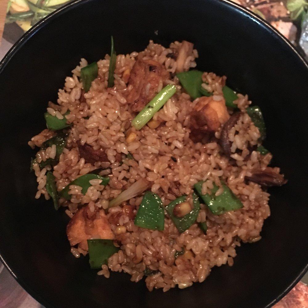 Donburi brown rice at Wagamama in Boston