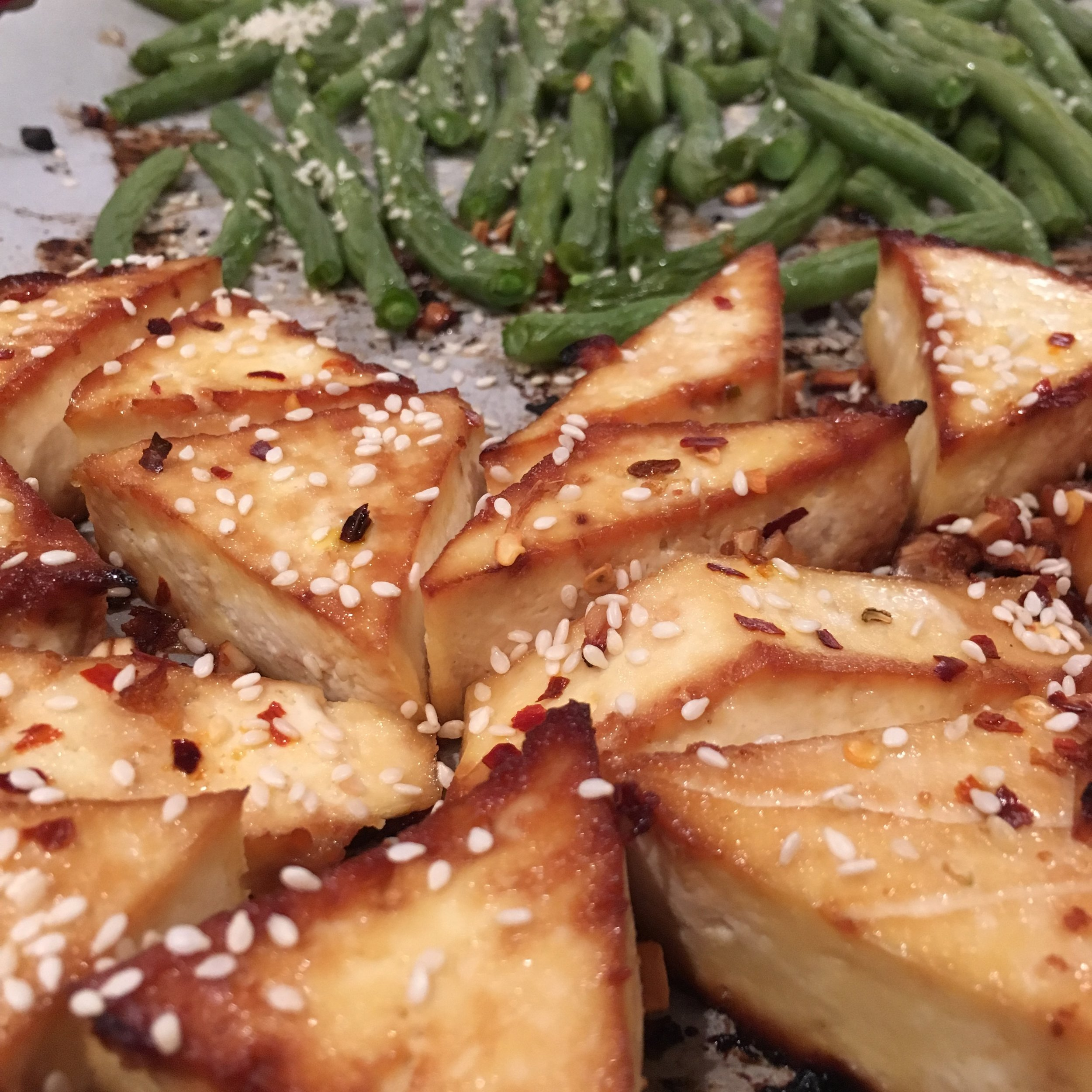Tofu with Green Beans. Easy and delicious. Recipe here.