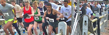 Cherry Blossom 5K, 2013. That's me in green.This race was pivotal in developing my confidence to run faster. I finally ditched the tights and worked up enough courage to line up with the fast boys & girls. Finished 5th female, 1st age group.