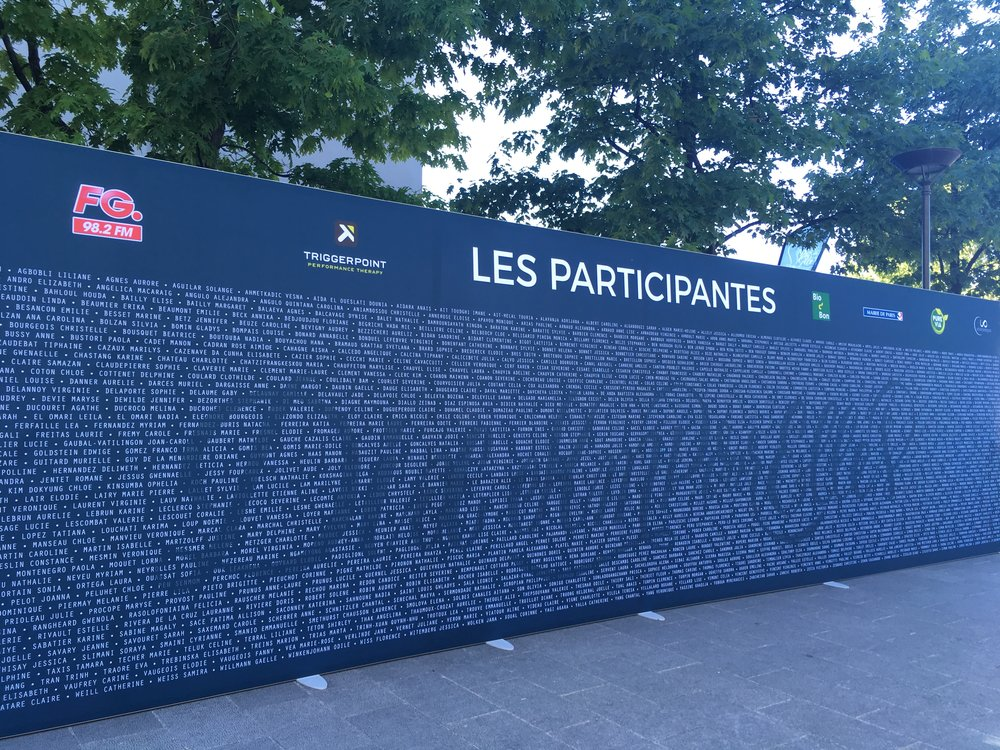 Cool board with all the participants' names: a nice touch