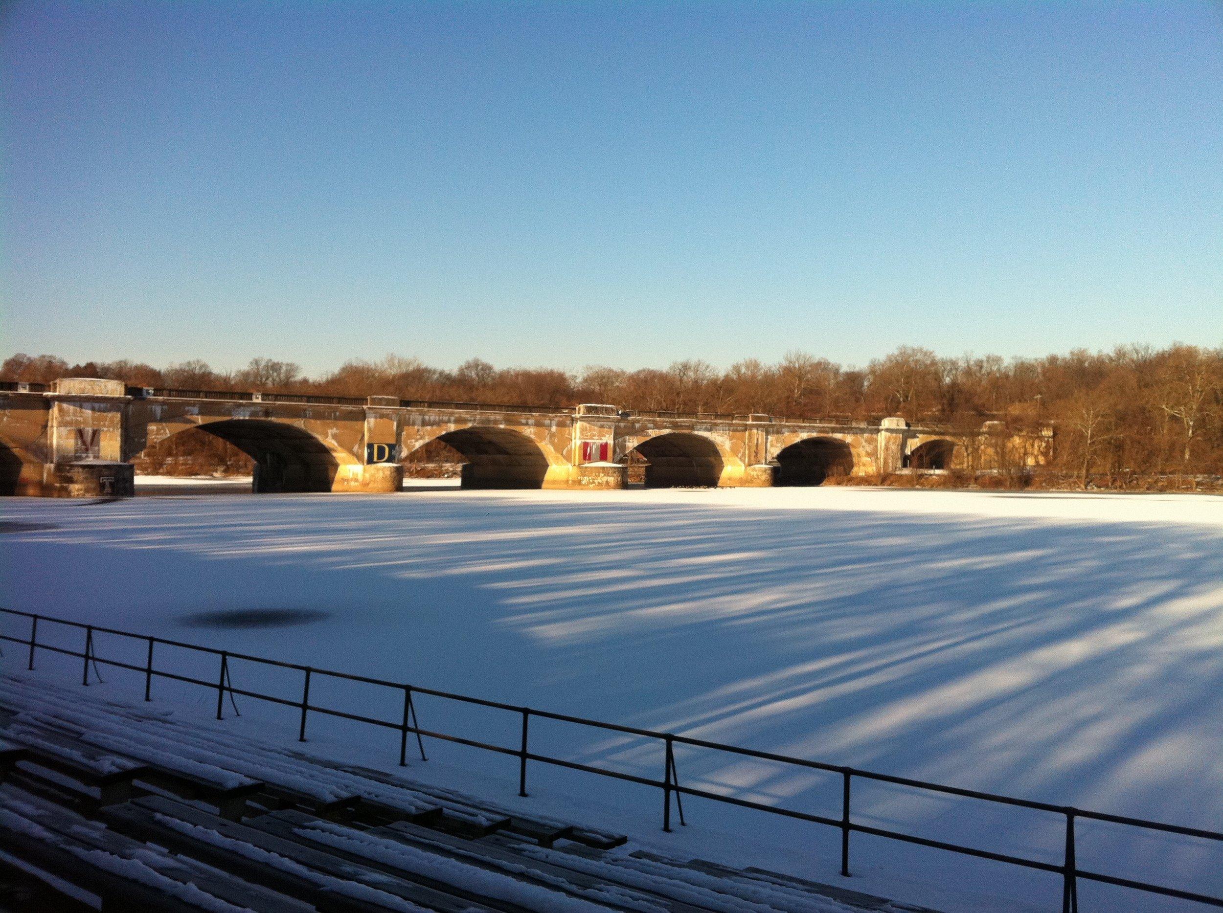 Common Philly winter running scene.