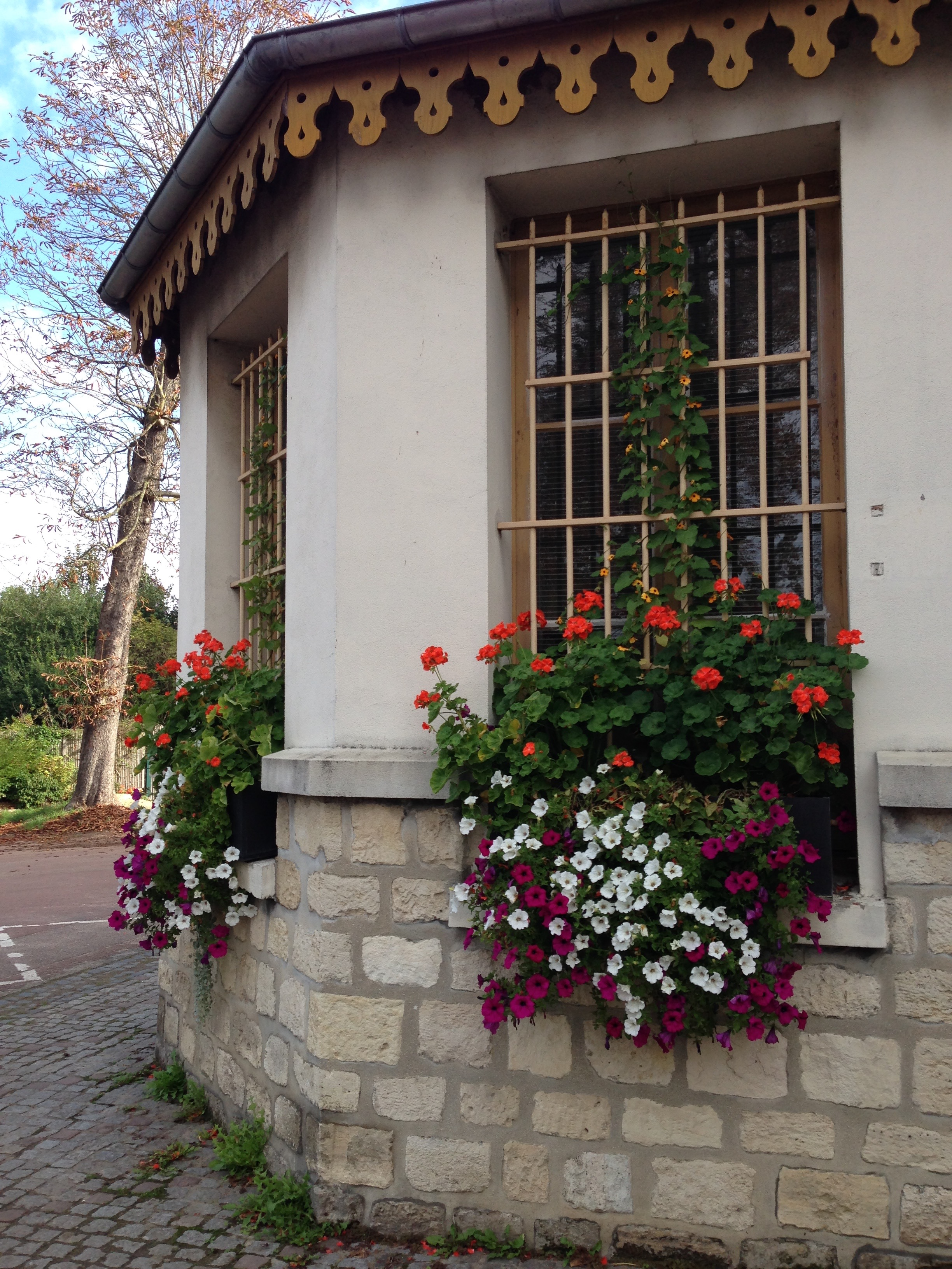 Flower boxes, on the way to the Bois de Vincennes