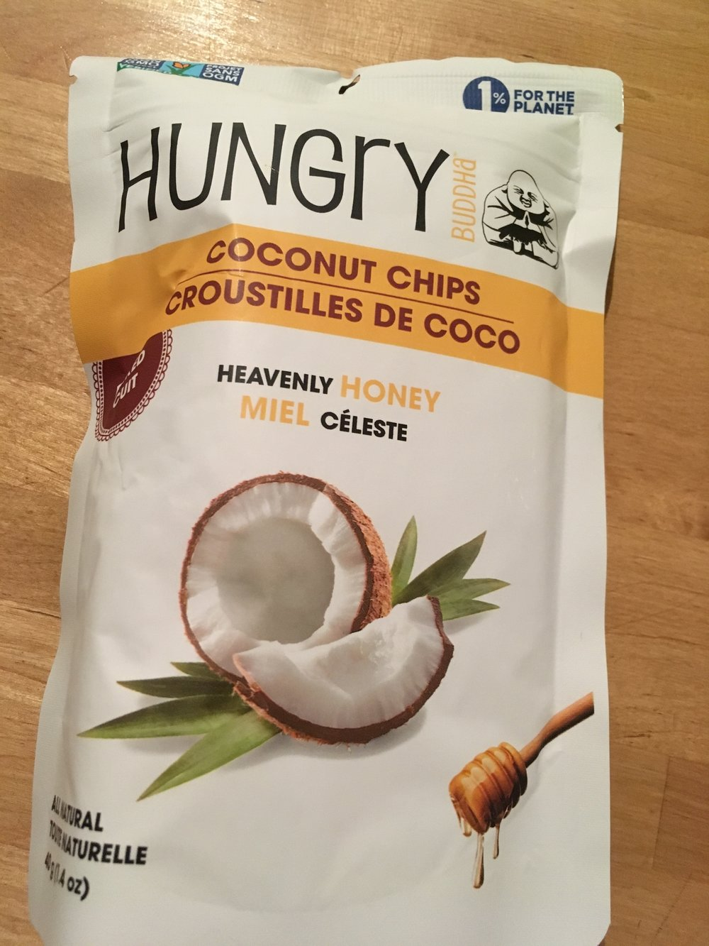 These Hungry Coconut Chips were the first food item to go. Fresh & delicious fuel. I love anything coconut.Not 1000% vegan because of the honey.