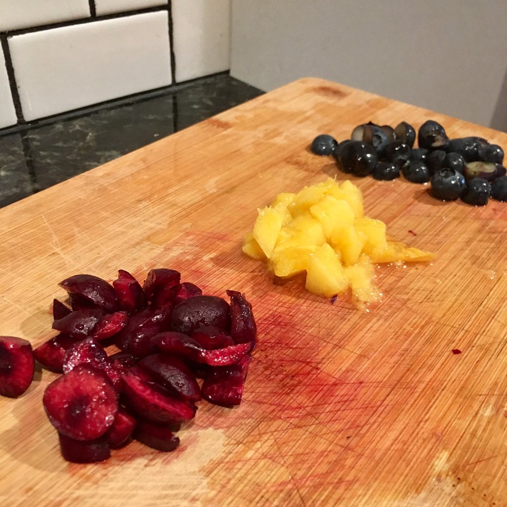 Chop up some fruit and add it to your komucha