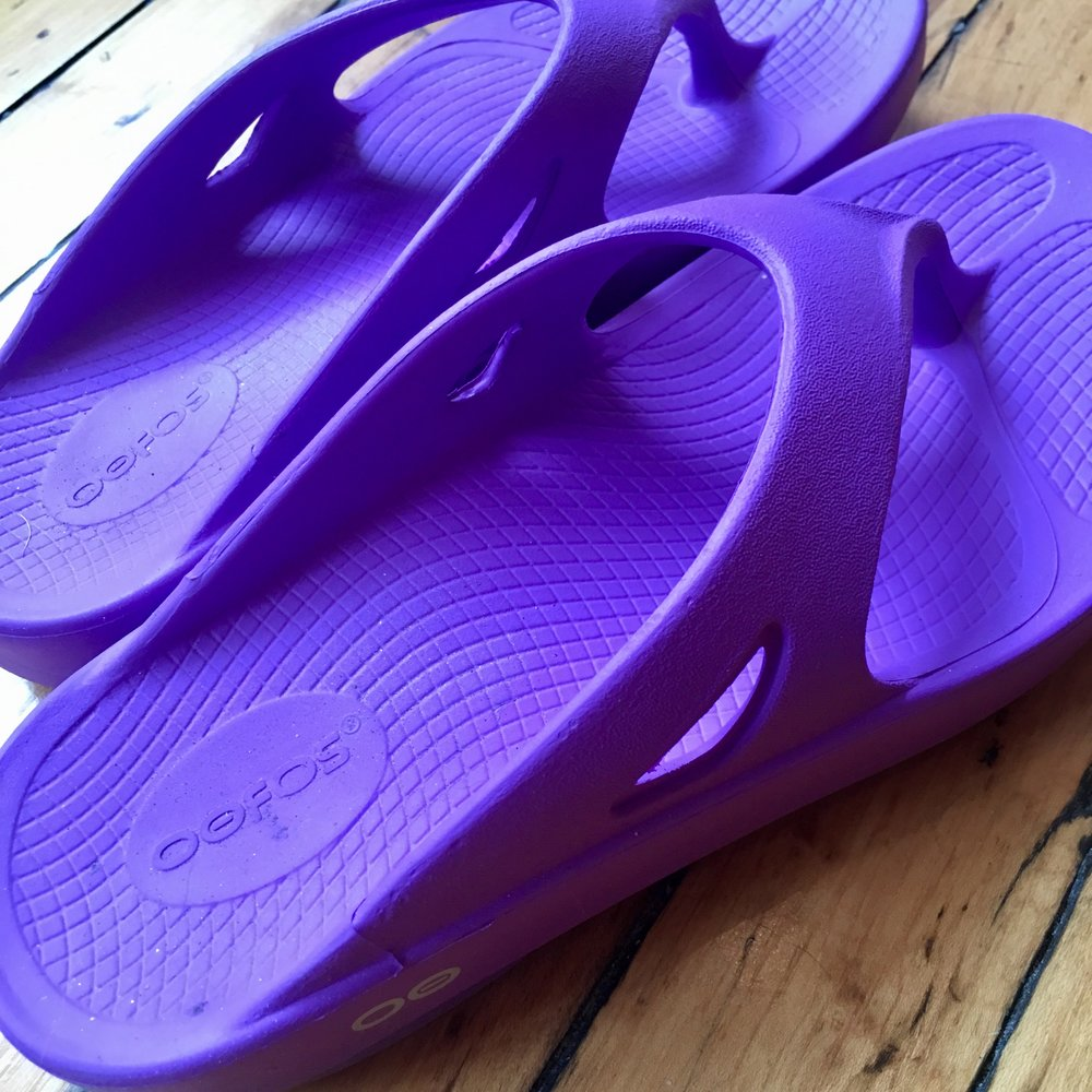 These Oofos Recovery Sandals have been a huge help in healing my metatarsal pain. Wearing them is like walking on pillow clouds.