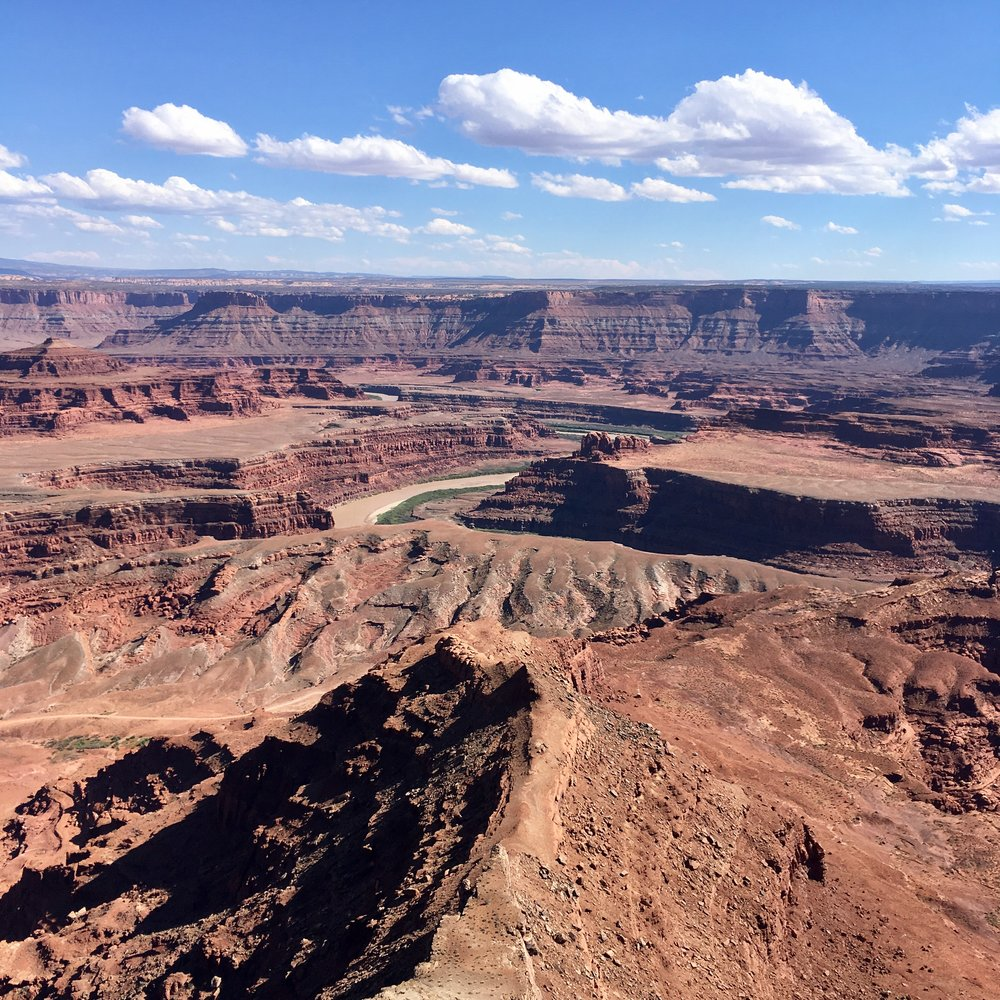 Dead Horse Point. A small gem.  That's the Colorado River, carving out the canyon.