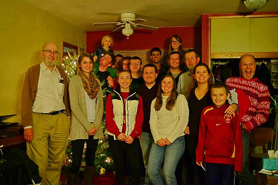 Students and Faculty at Last Year's Christmas Party