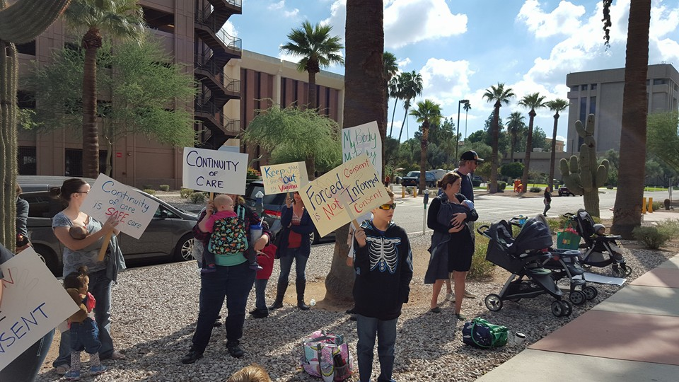 Protest for Arizona birth rights
