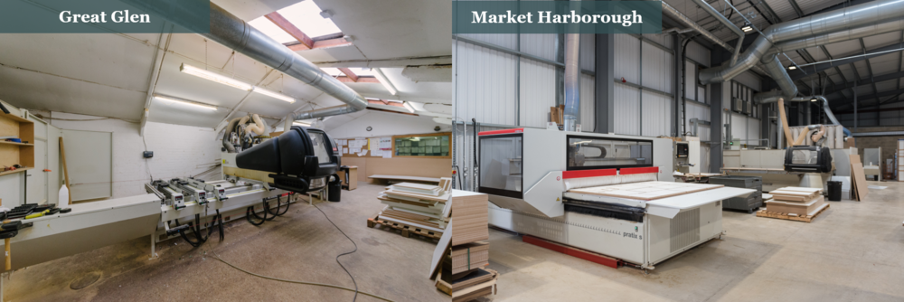 Thorpes Joinery - CNC machines: Great Glen Vs Market Harborough