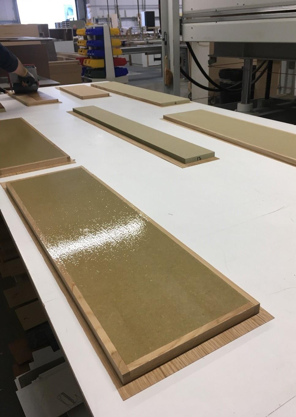 Panels in the early veneer process