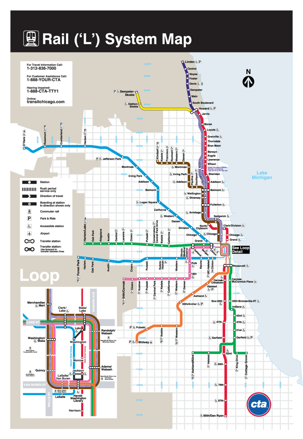 Diagram Collection Cta Train Stops Map Download More Maps - Chicago map of trains