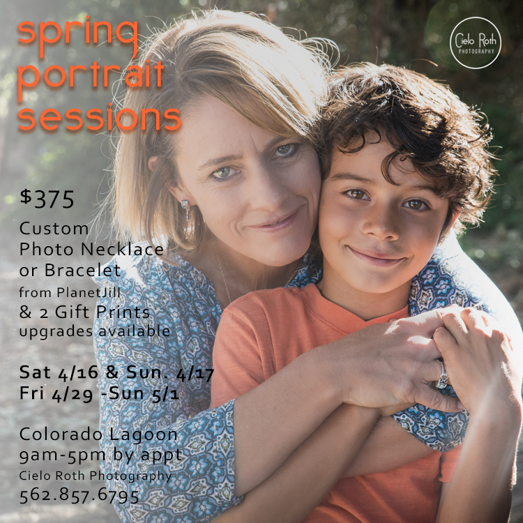 Spring Portrait Sessions by Cielo Roth Photography. Just in time for Mother's Day gifts