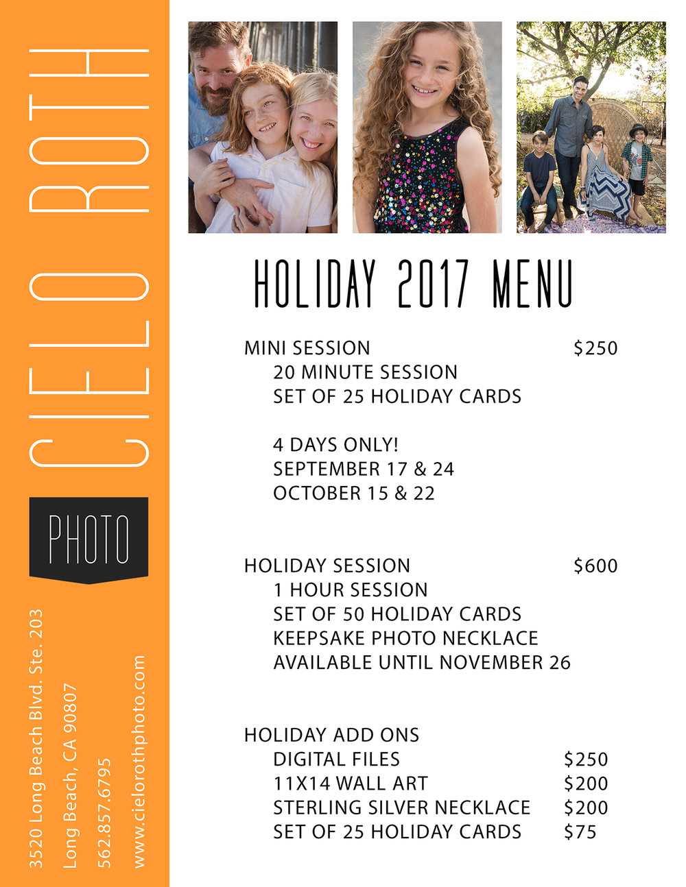 holiday2017menu_cielorothphoto