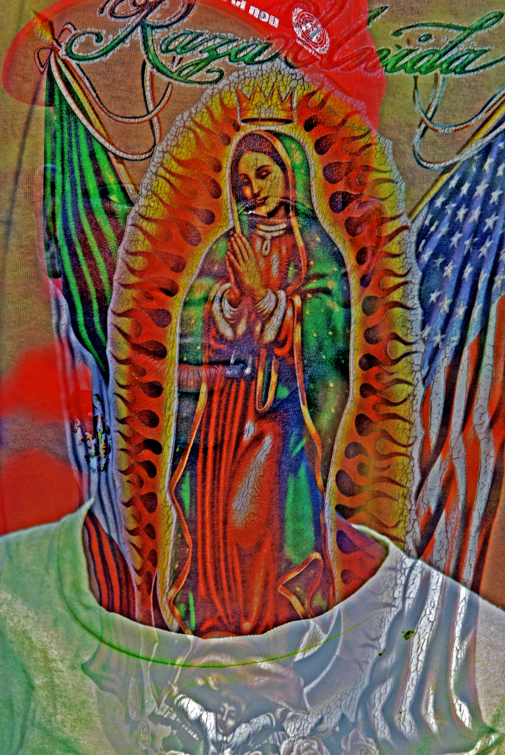 Our Lady Found in Haiti on a T-Shirt