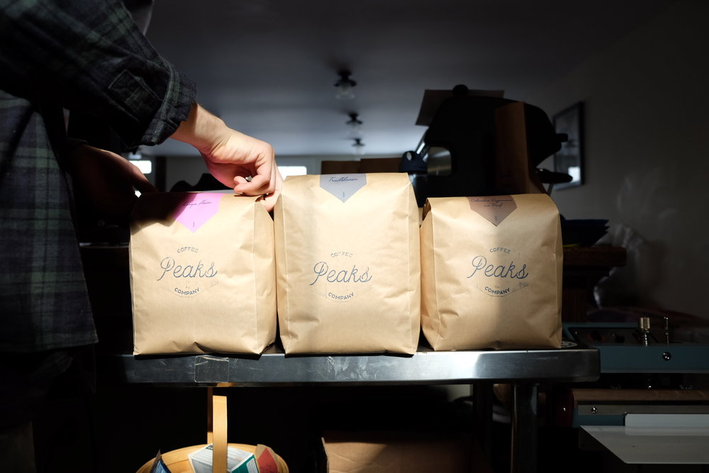 Roastery / Wholesale - Want to work in our roasting and wholesale department? We're looking for part time bag packers and wholesale team members. If you're interested send an email with a copy of your resume to sam@peakscoffeeco.com with the header ROASTERY / WHOLESALE. Can't wait to hear from you!*Currently we are at full capacity with our staff. We'll post on social media when we are looking for more staff members!