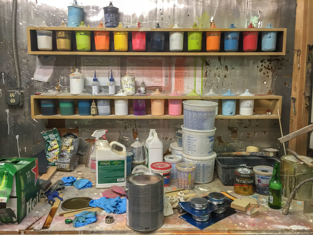 DAVID RASMUSSEN'S PAINT BOOTH