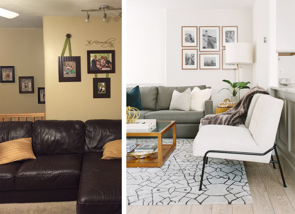The rad reno living room before after akin design - Before and after living rooms ...