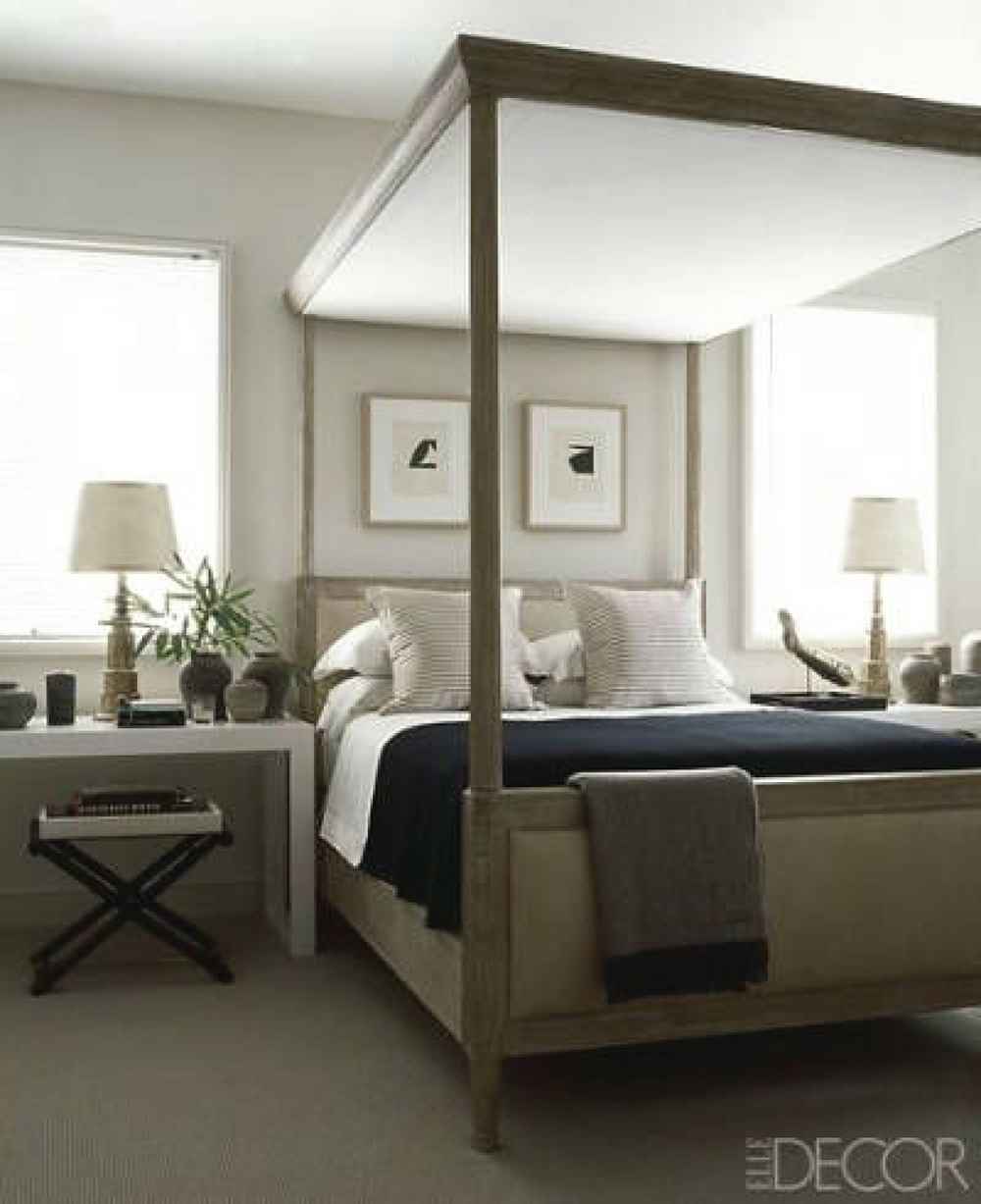 Canopy Bed Frame in Transitional Bedroom