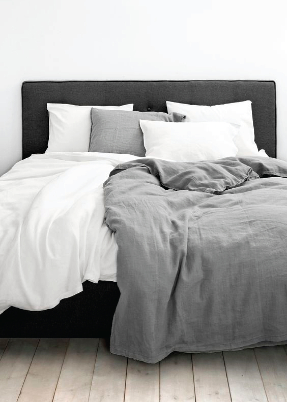 Linen Bedding Neutral Bed