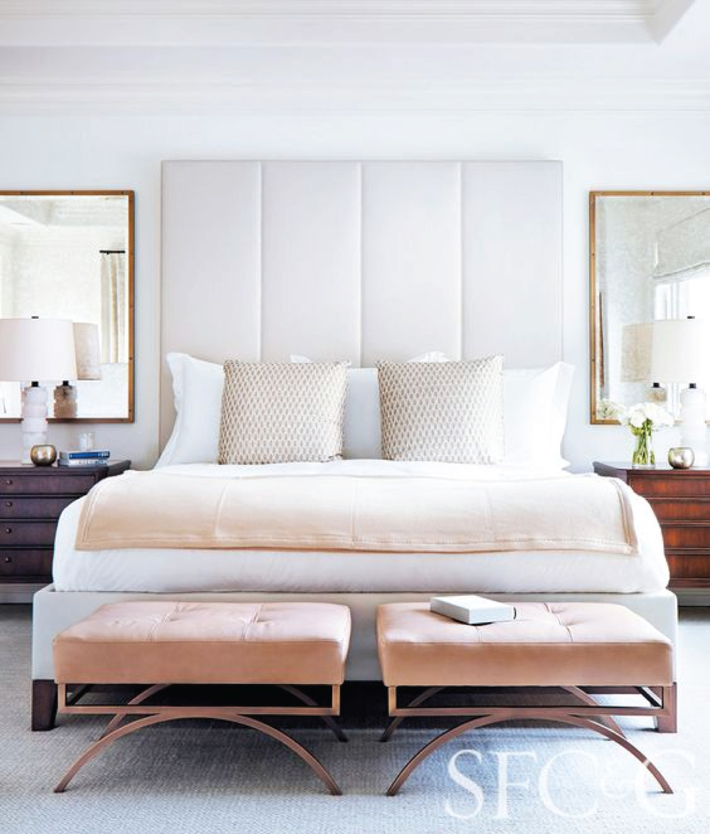 Transitional Bedroom Light and Airy