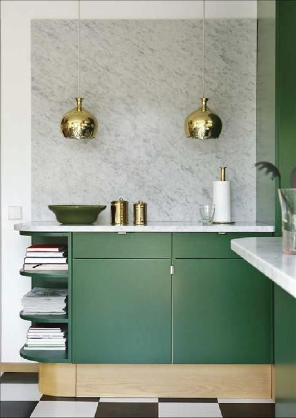 Modern Green Kitchen Design