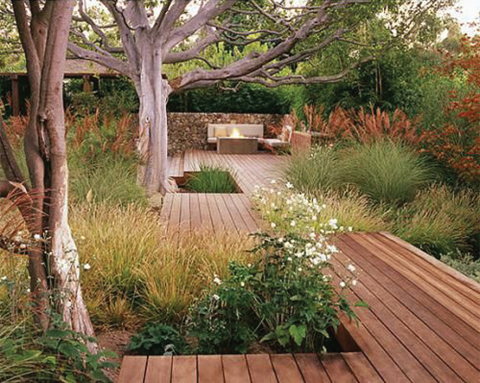 Statement Gardens: meandering wooden walkways | Akin Design Studio Blog