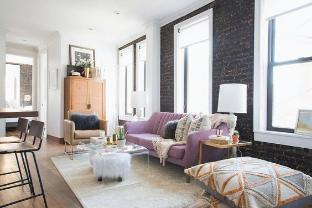 Lilac Living Room Interior Inspiration | Akin Design Studio Blog