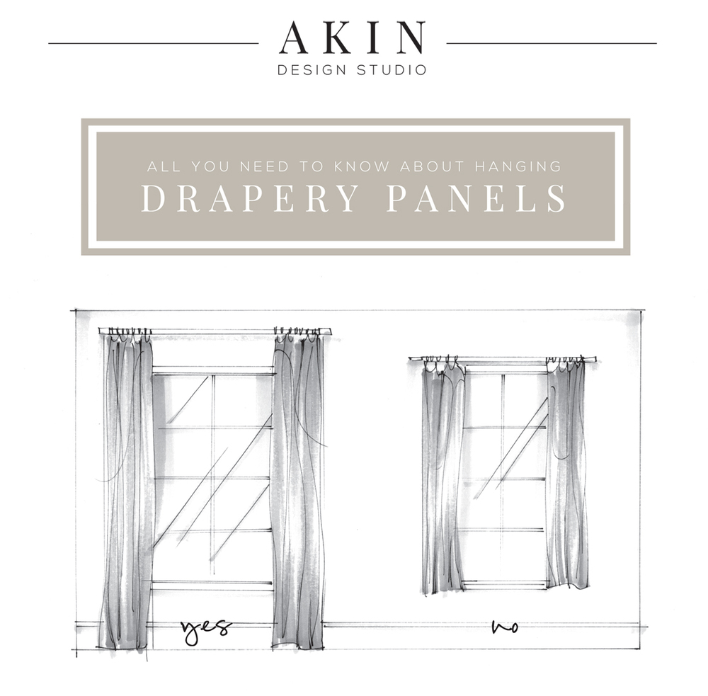 all you need to know about hanging drapery panels akin design studio blog - Hanging Drapery