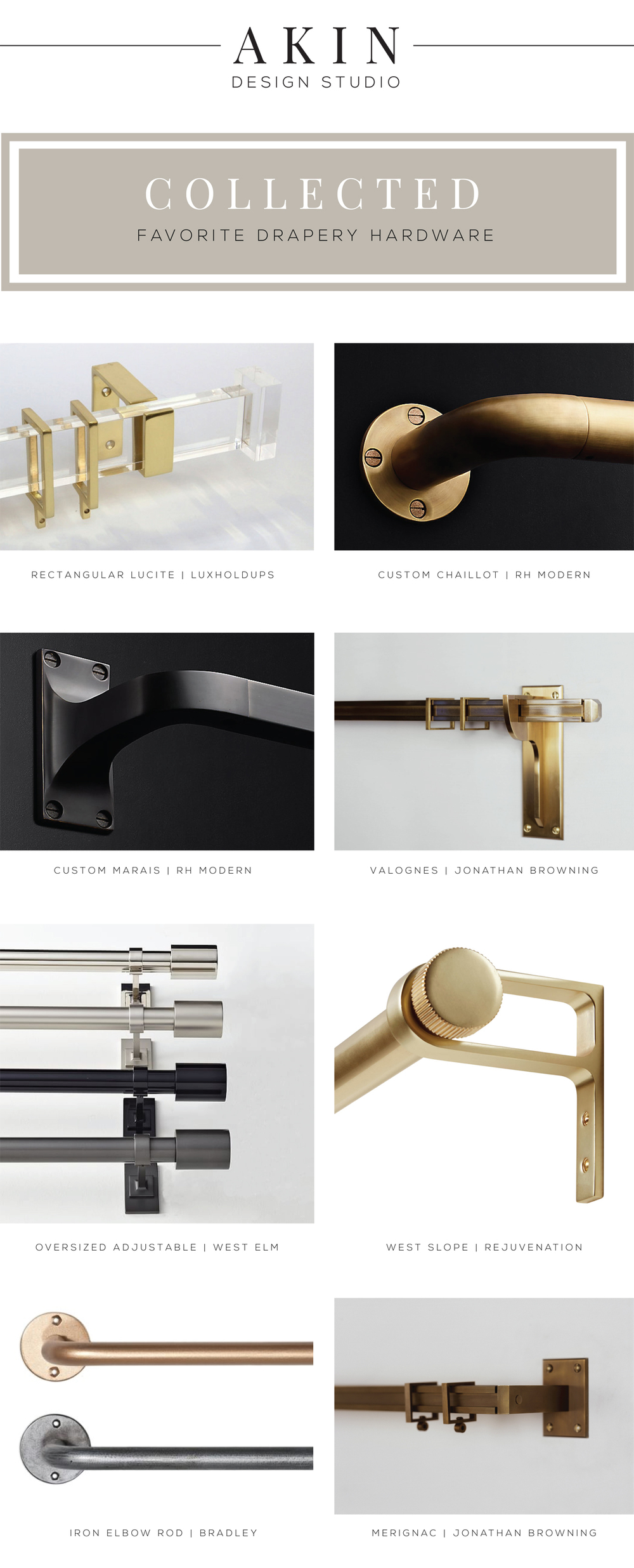Akin Design Studio's Favorite Drapery Hardware