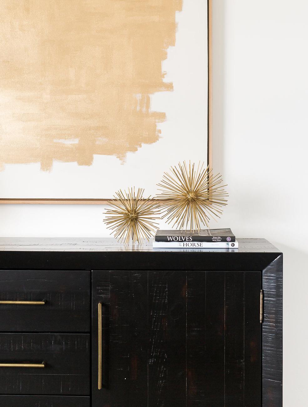 Akin Design Studio | Ironhorse Master Bedroom | Gold and black